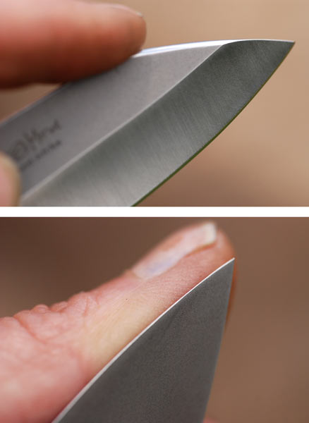 how to put a micro bevel on a knife